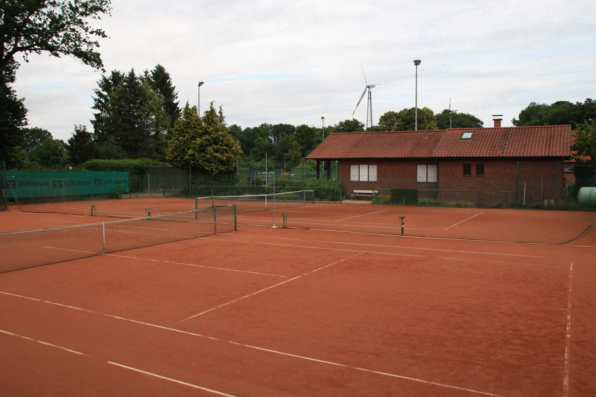 Plätze der Tennisabteilung in der TSG Kölkebeck-Bokel