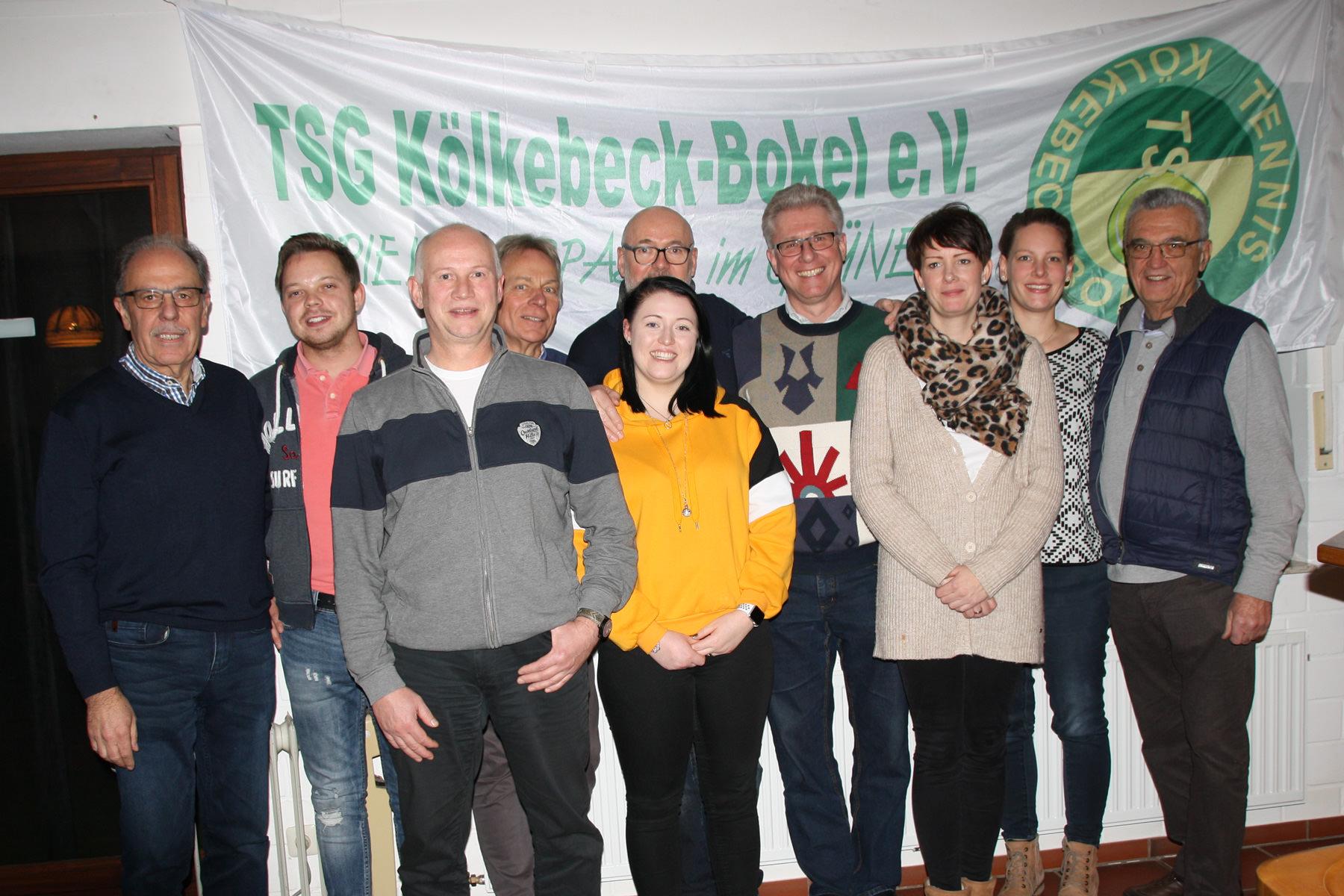 Vorstand der Tennisbateilung der TSG Kölkebeck-Bokel
